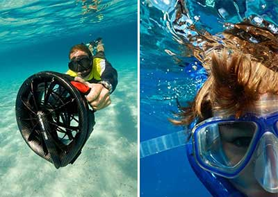 SCOOTER SOUS-MARIN + SNORKELING